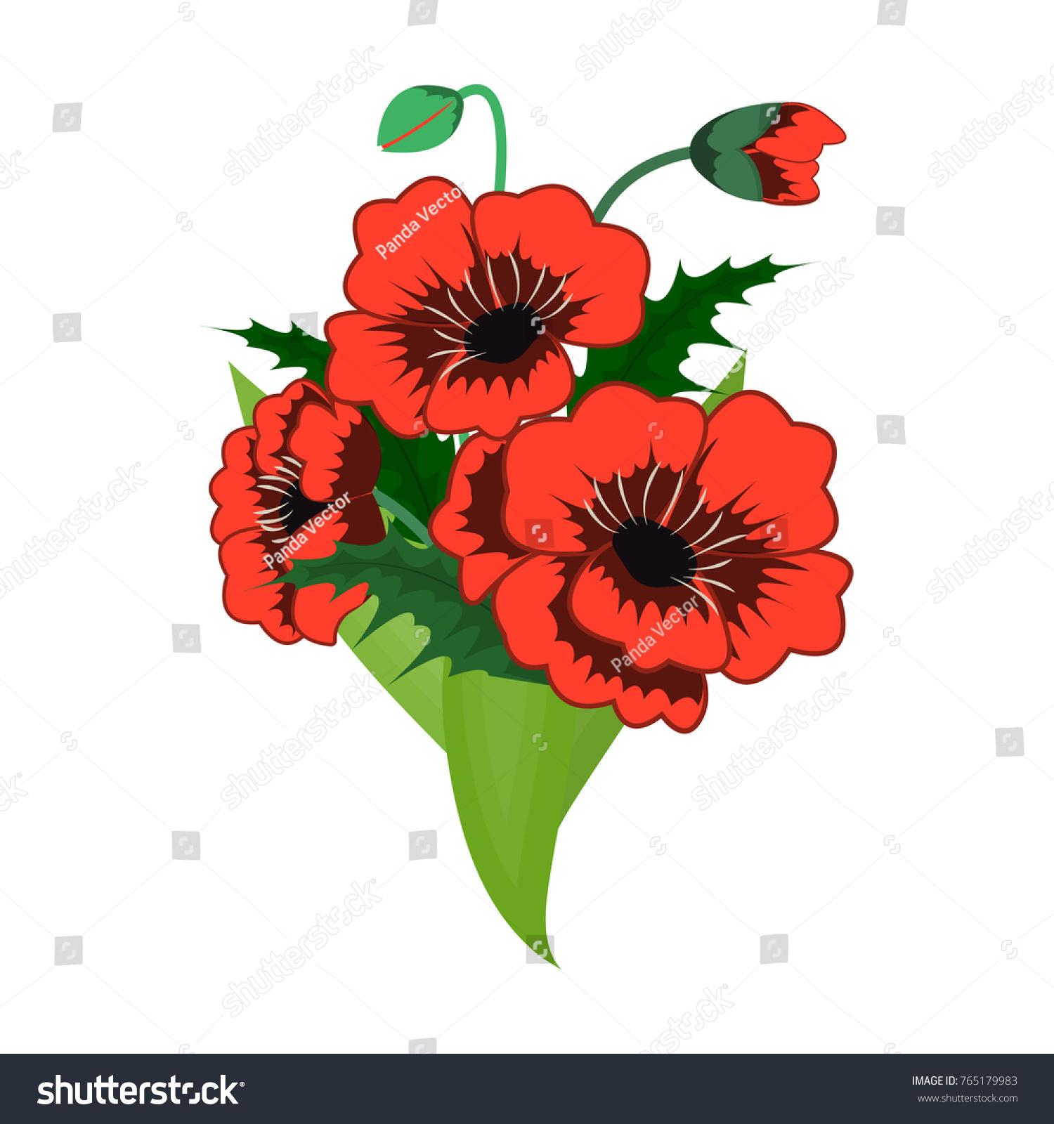 Bouquet Fresh Flowers Single Icon Cartoon Stock Vector Royalty Free