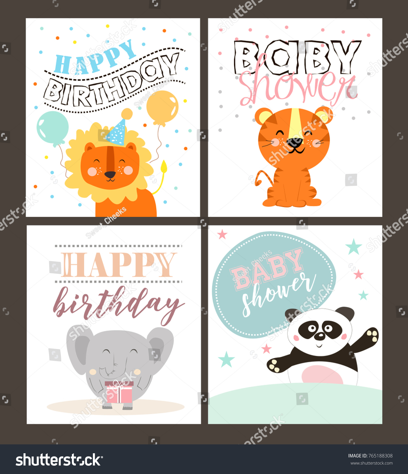 Jungle party invitation card stock vector 765188308 shutterstock jungle party invitation card stopboris Choice Image