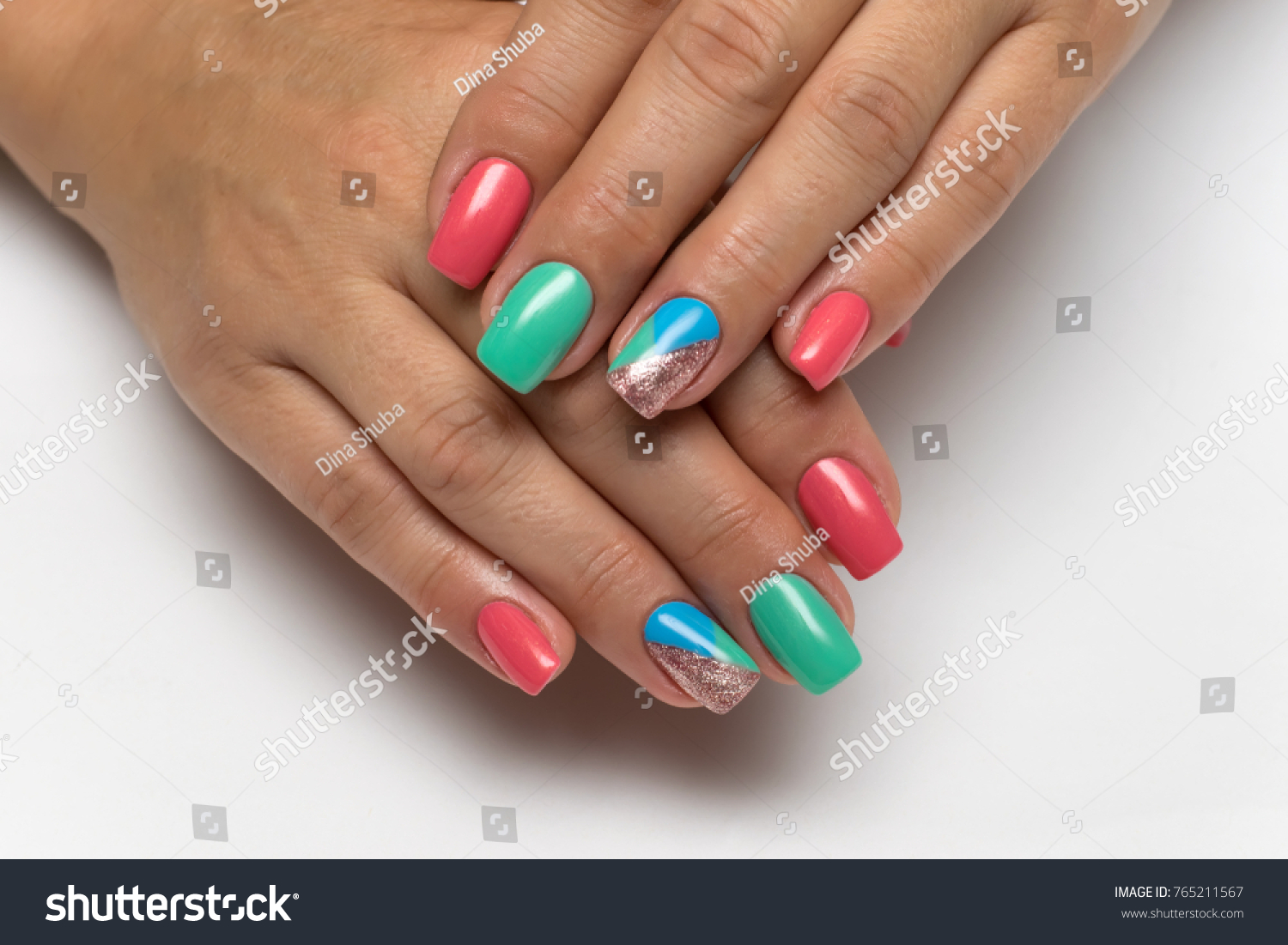 New Year Bright Blue Pink Gold Stock Photo 765211567 - Shutterstock