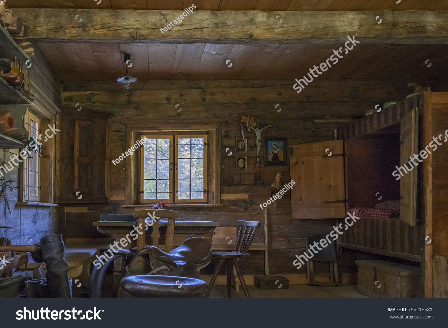 Saddlery And Cobbler In The Artisan House   Handwerkerhaus In The Markus  Wasmeier Farm And Winter