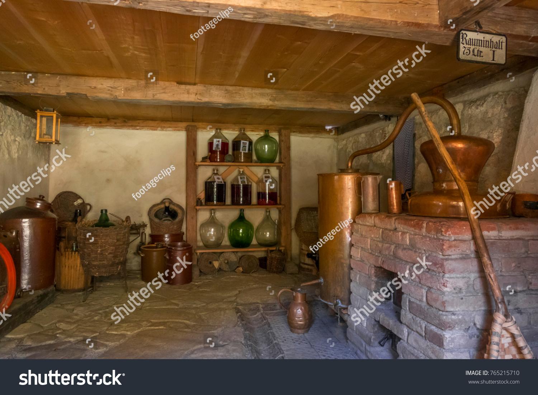 Schnapps Distillery In The Artisan House   Handwerkerhaus In The Markus  Wasmeier Farm And Winter Sports