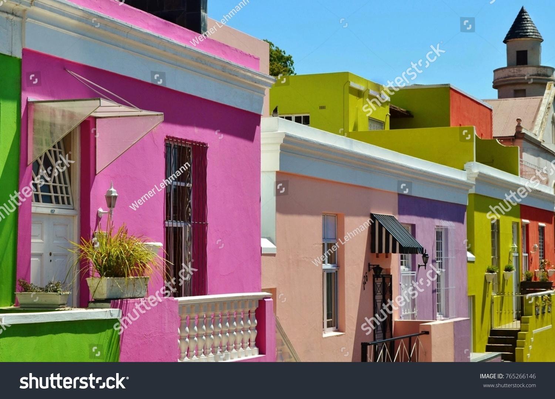 Landscape Colorful Houses Bo Kap Cape Stock Photo (Edit Now ...