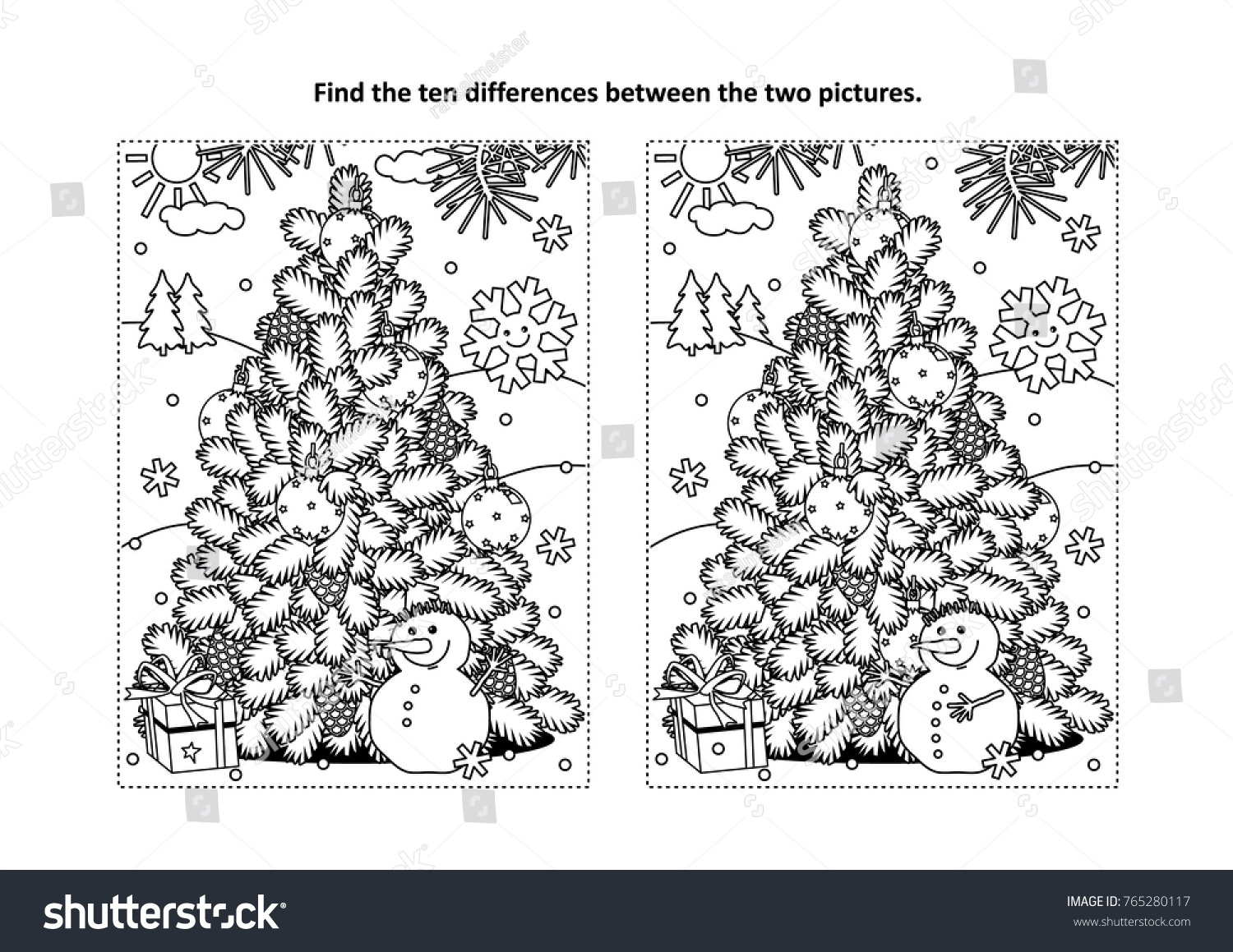 Winter Holidays New Year Christmas Themed Stock Vector 765280117 ...