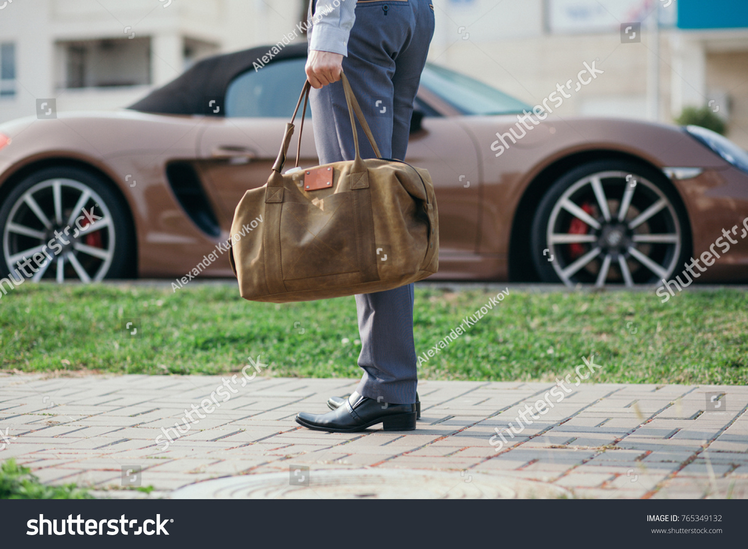 Cool Man Beautiful Model Outdoors City Stock Photo - Cool young cars