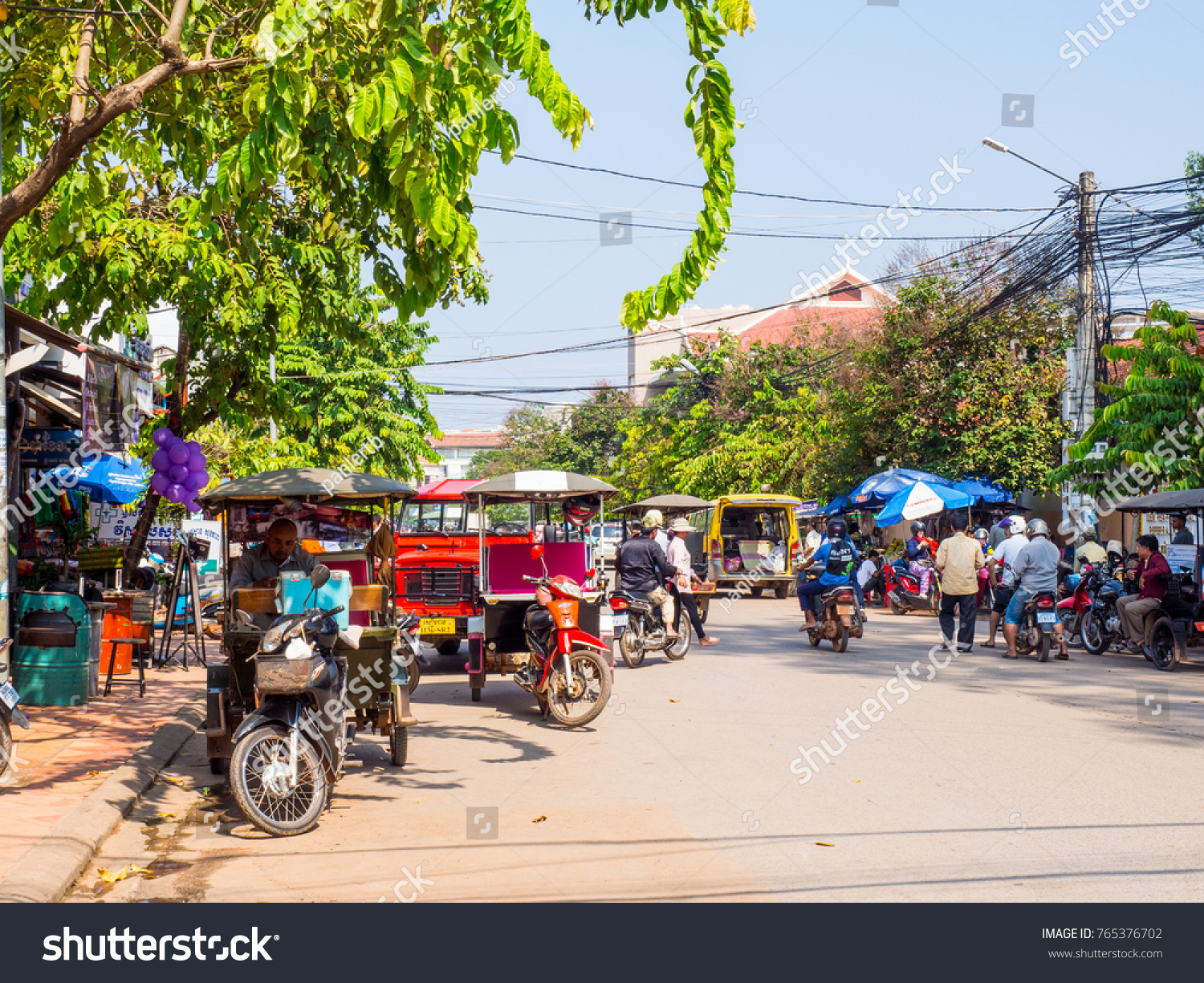 siem reap cambodia october 5 2017 tuk stock photo (edit now
