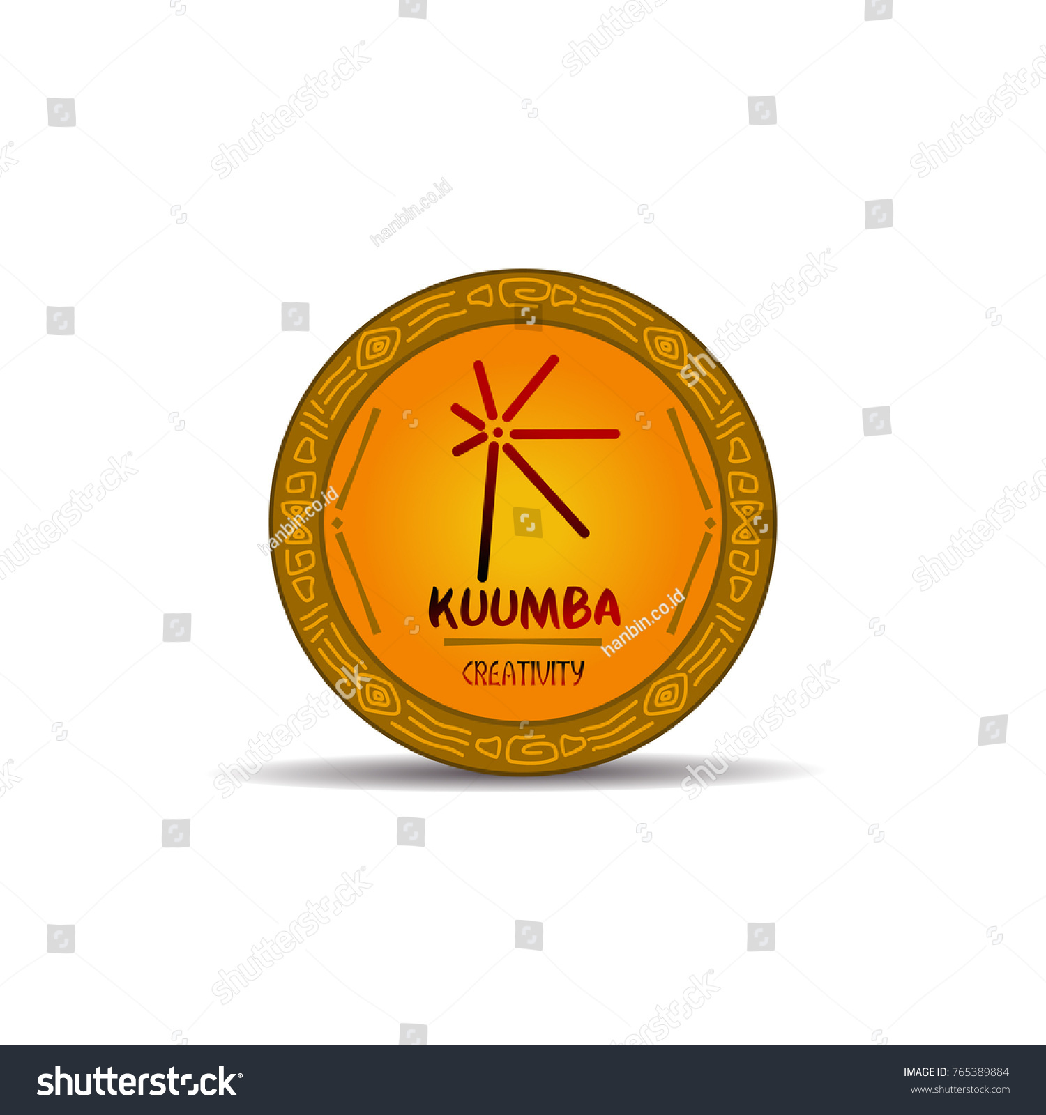 Kwanzaa Symbol Used By African Citizens Stock Vector 765389884