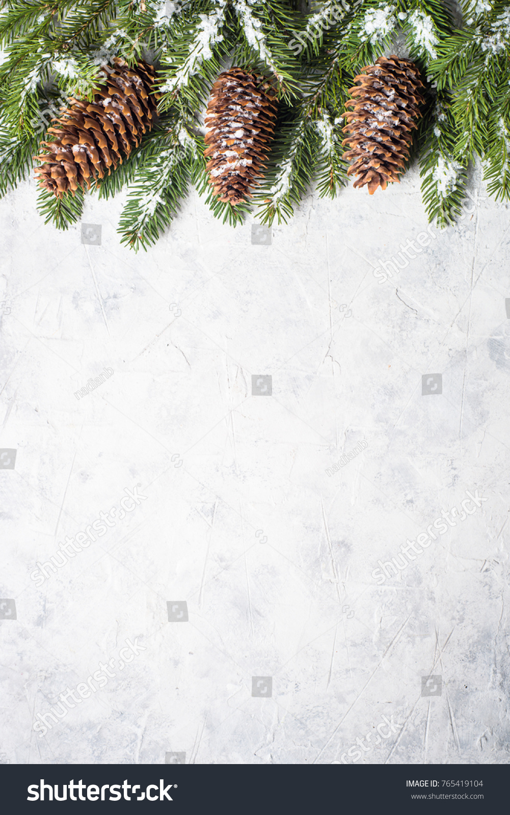 Christmas Background Snow Fir Tree Branch Stock Photo (Edit Now ...