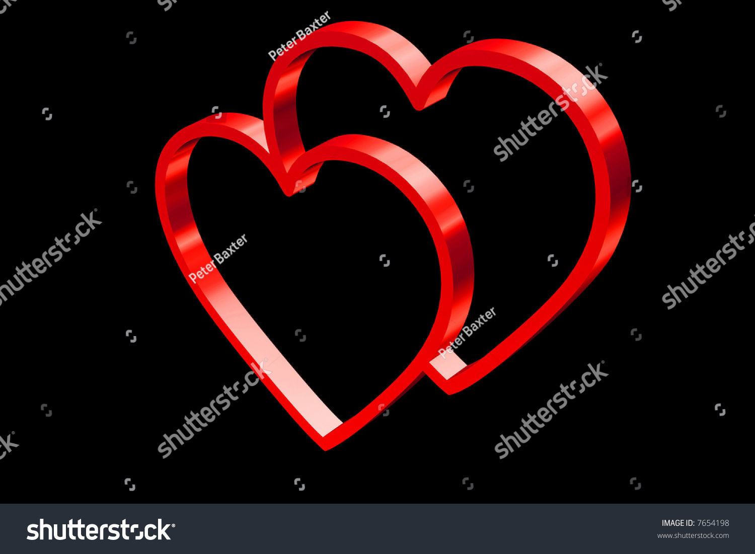 Two Hearts One Symbol Love Stock Illustration 7654198 Shutterstock