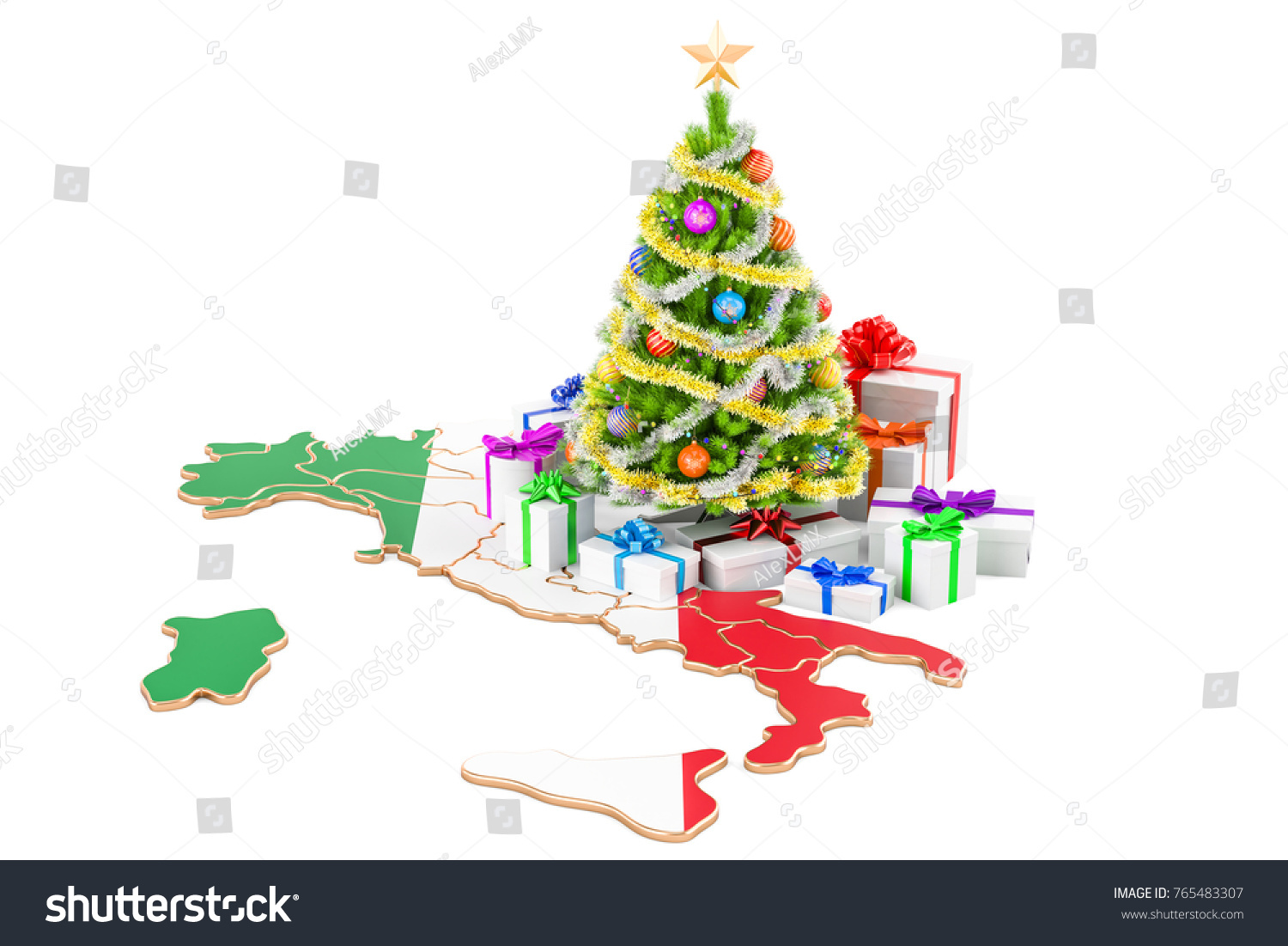 Christmas New Year Holidays Italy Concept Stock Illustration ...
