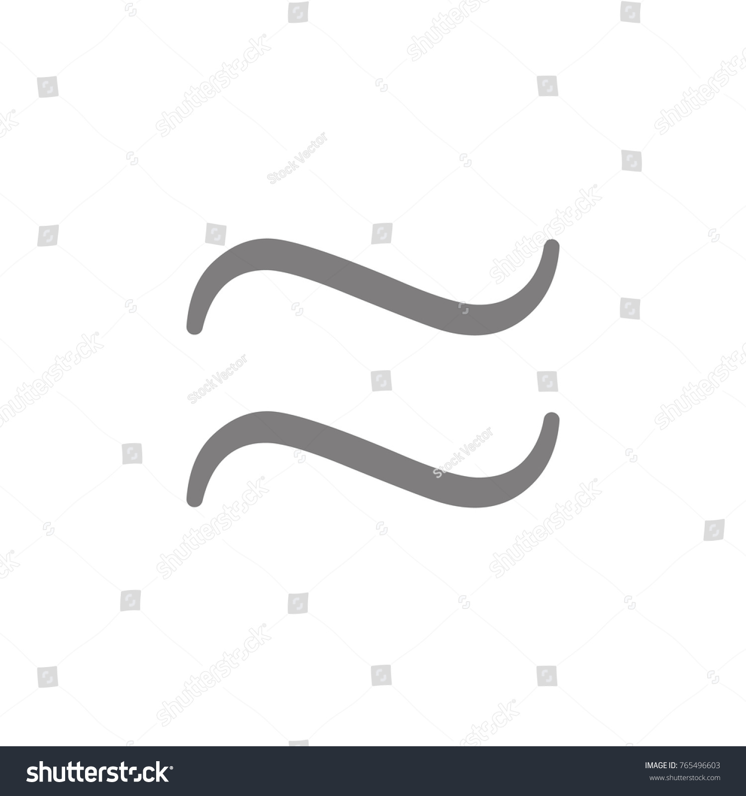 Approximately Equal Symbol Icon Web Element Stock Illustration