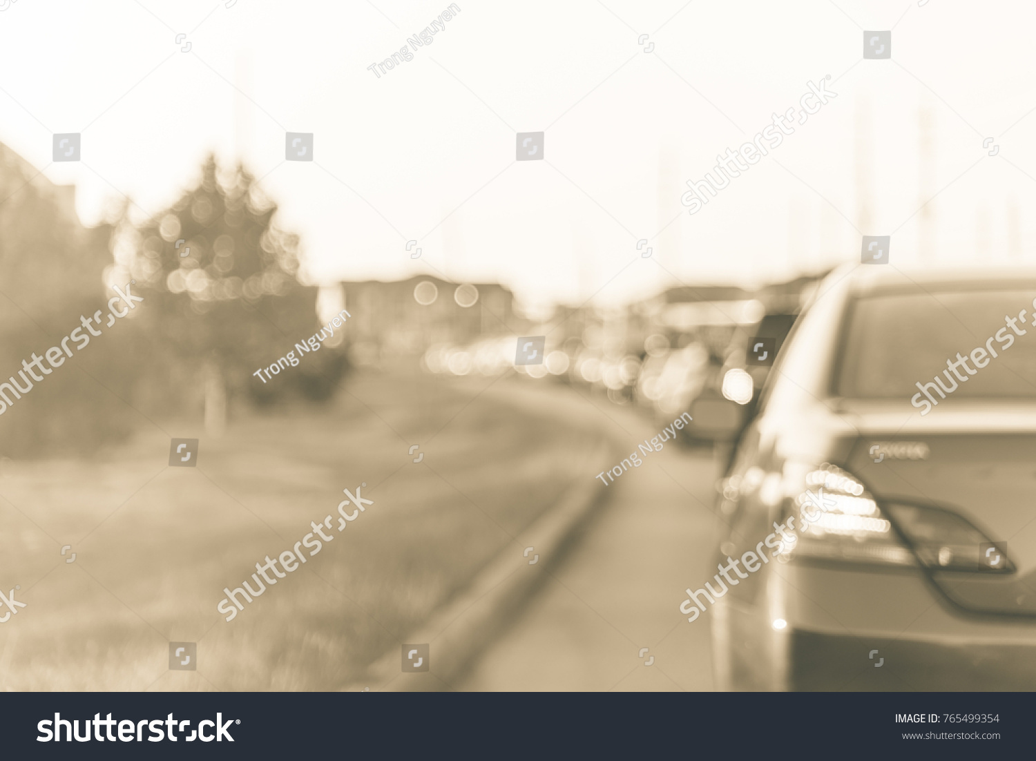 Blurred Busy Road Long Line Cars Stock Photo 765499354 - Shutterstock