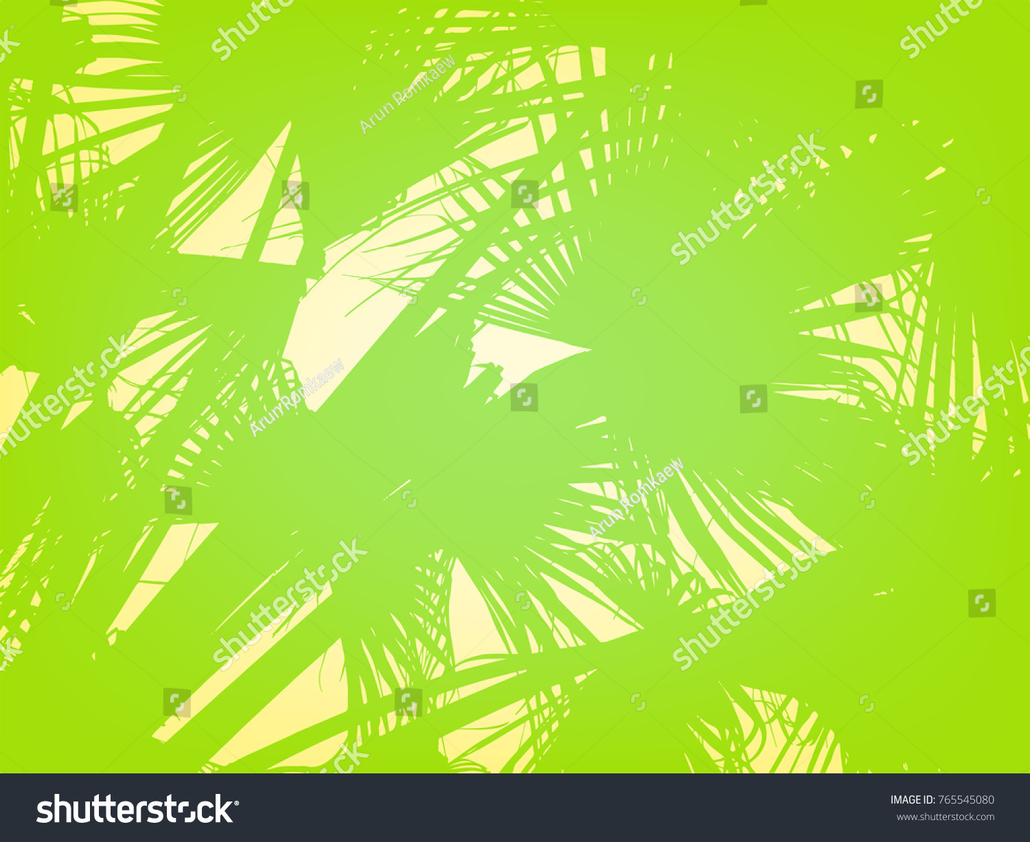 Vector Illustration Colorful Palm Leaves Branch Stock Vector ...