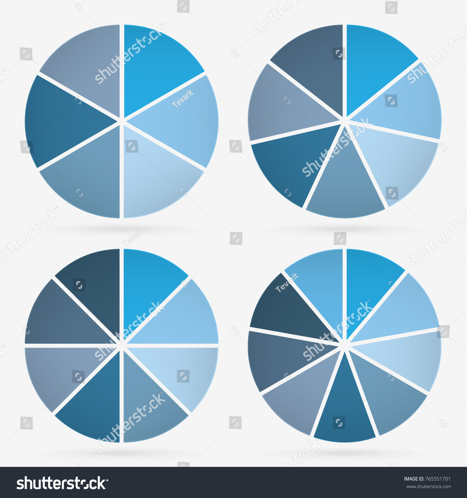 Info template pie charts blue 6 stock vector 765551701 shutterstock info template pie charts blue with 6 7 8 9 steps nvjuhfo Images