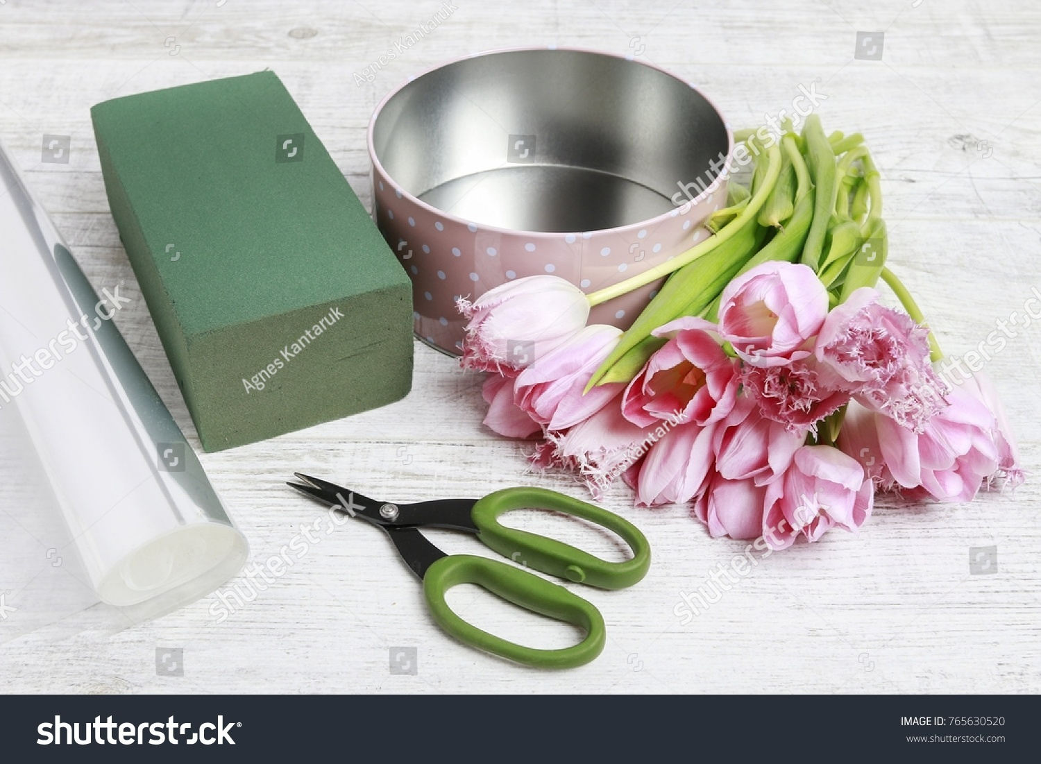 Florist Work How Make Beautiful Dotted Stock Photo Royalty Free
