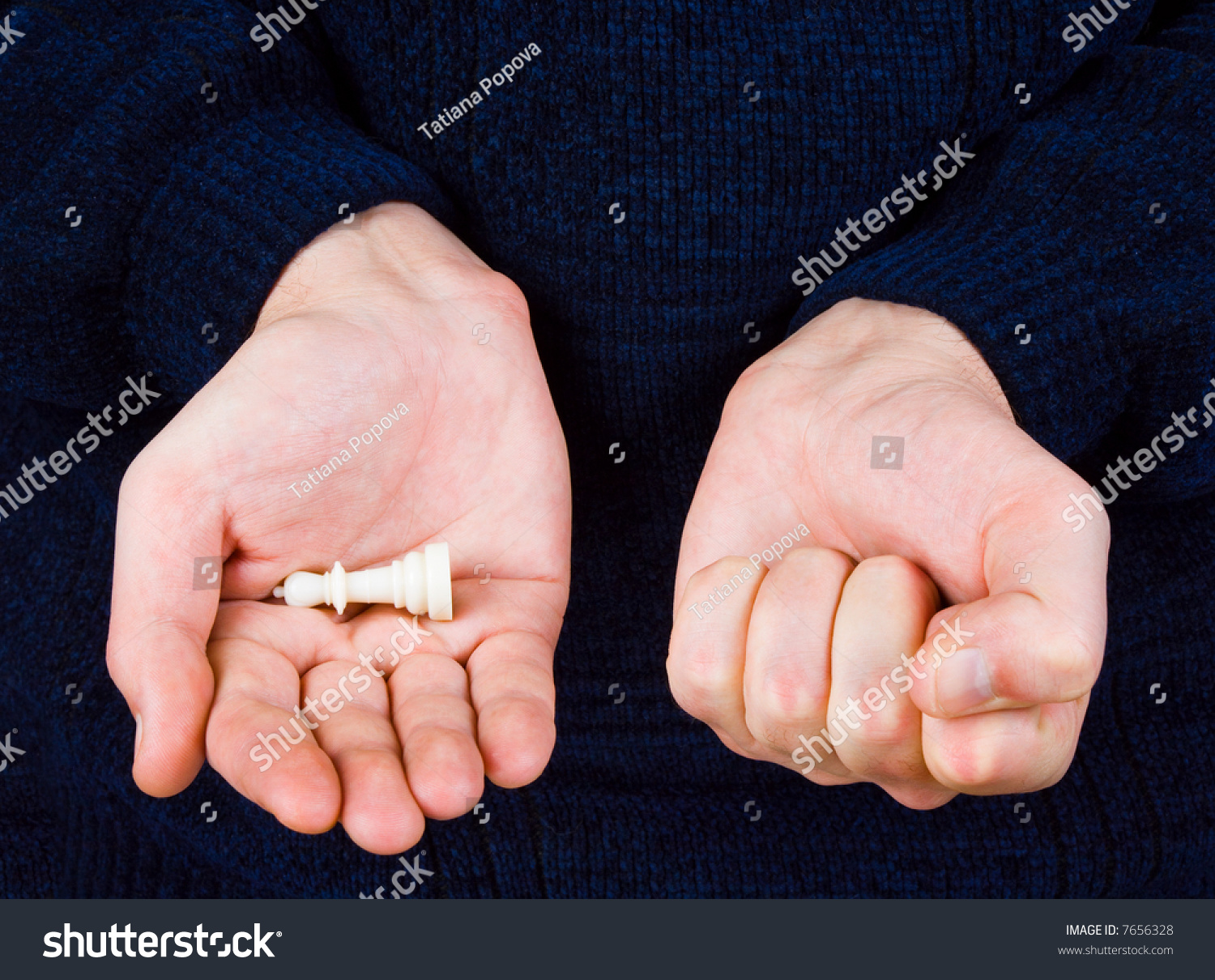 White Chess Piece Hands Stock Photo 7656328 - Shutterstock