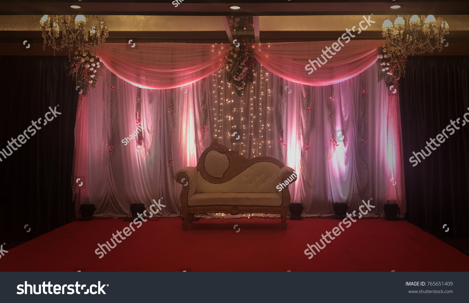 Indian Decorative Wedding Stage Backdrop Stock Photo Edit Now