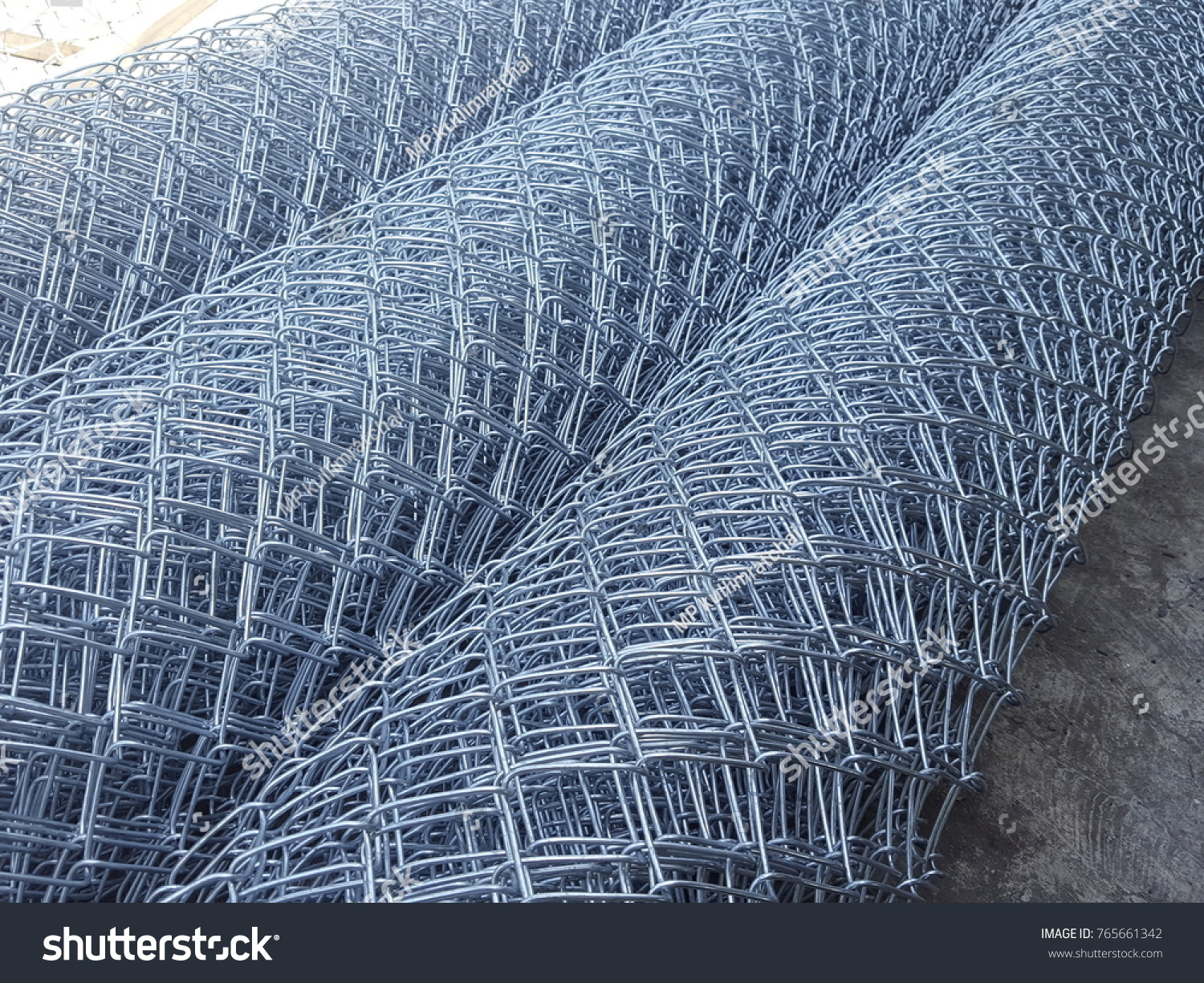 Rolls Wire Mesh Steel Construction Put Stock Photo & Image (Royalty ...