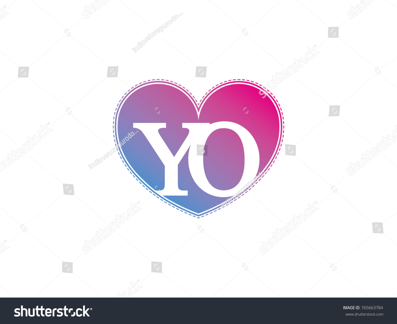 Initial letter yo heart symbol logo stock vector 765663784 the initial letter yo in the heart symbol as a logo sign and decoration buycottarizona Images