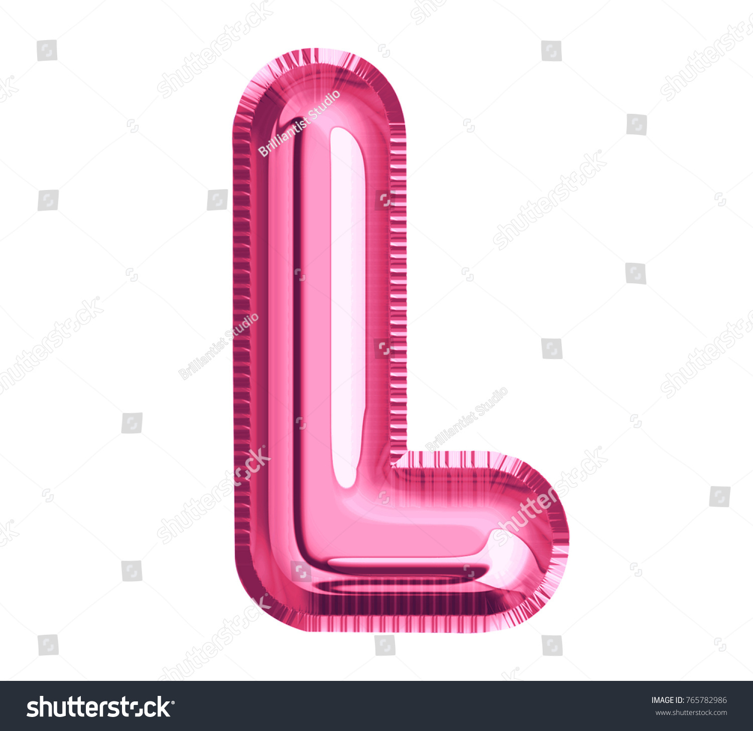 Royalty Free Stock Illustration of Balloon Pink Color Font Letter L ...
