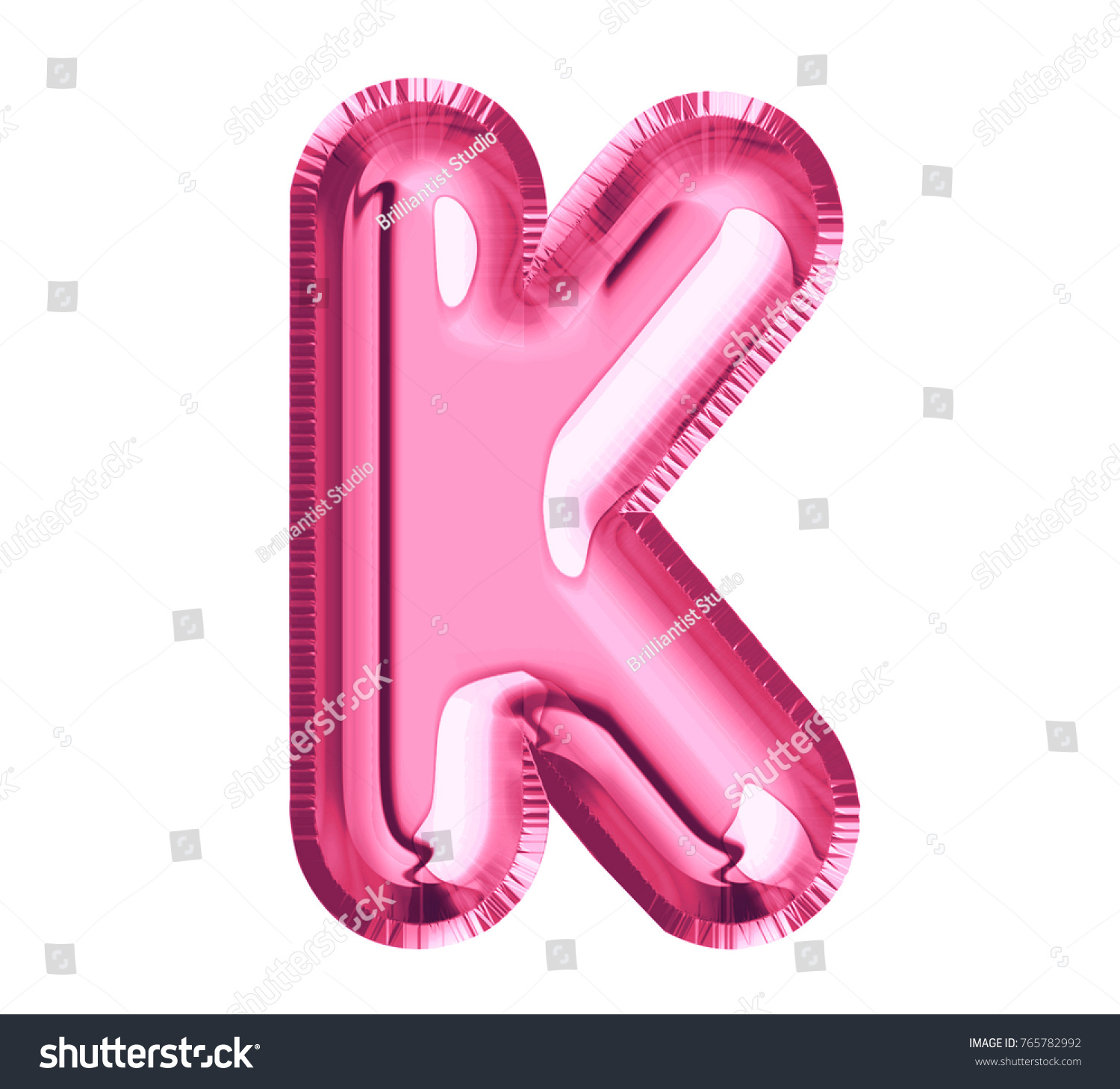 Balloon Pink Color Font Letter K Stock Illustration - Royalty Free ...