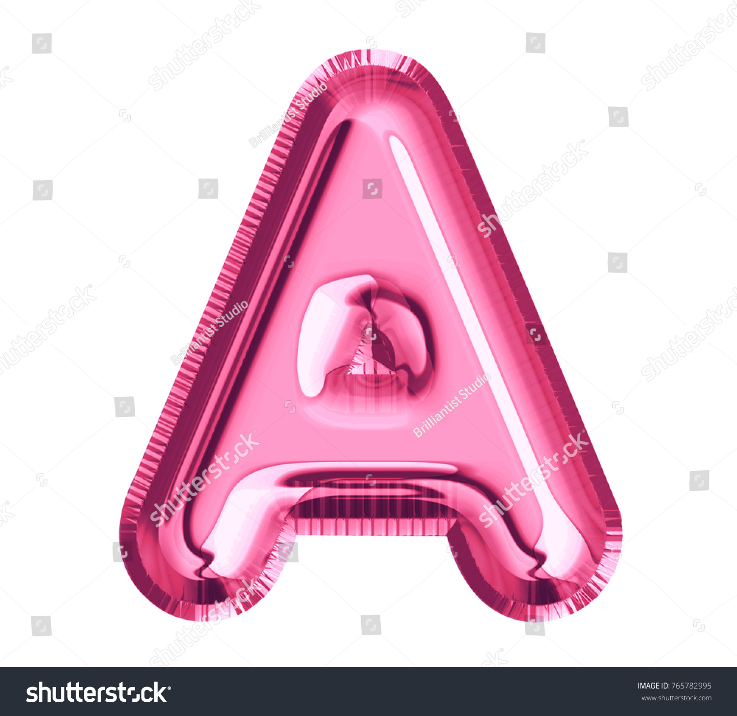 Balloon Pink Color Font Letter Made Stock Illustration 765782995 ...