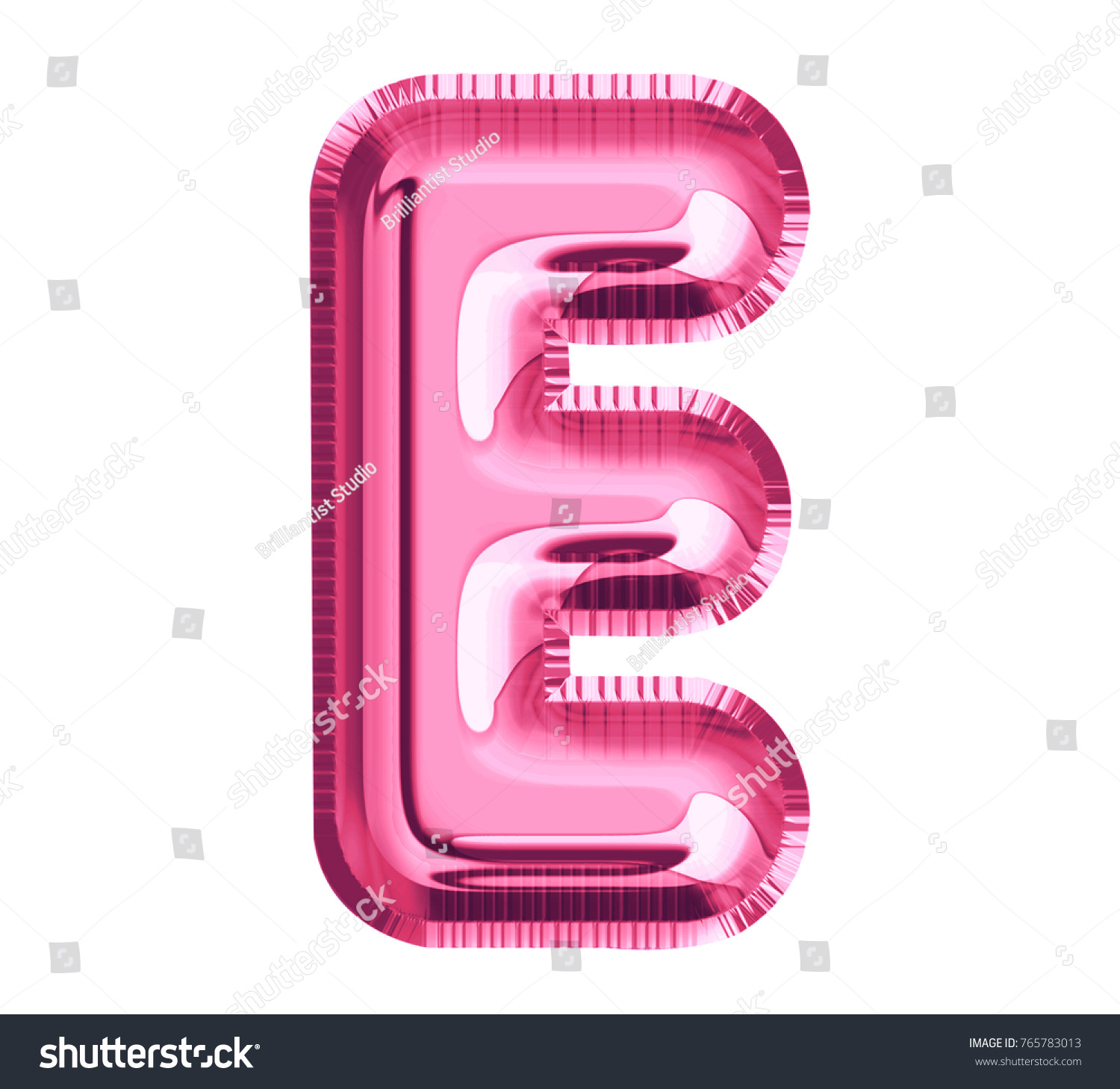 Balloon Pink Color Font Letter E Stock Illustration 765783013 ...