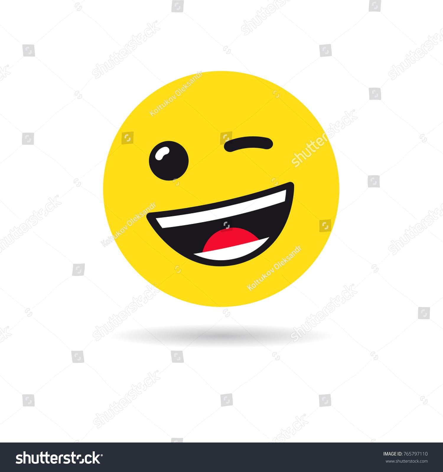 Image Vectorielle De Stock De Wink Emoticon Ou Le Symbole Emoji 765797110