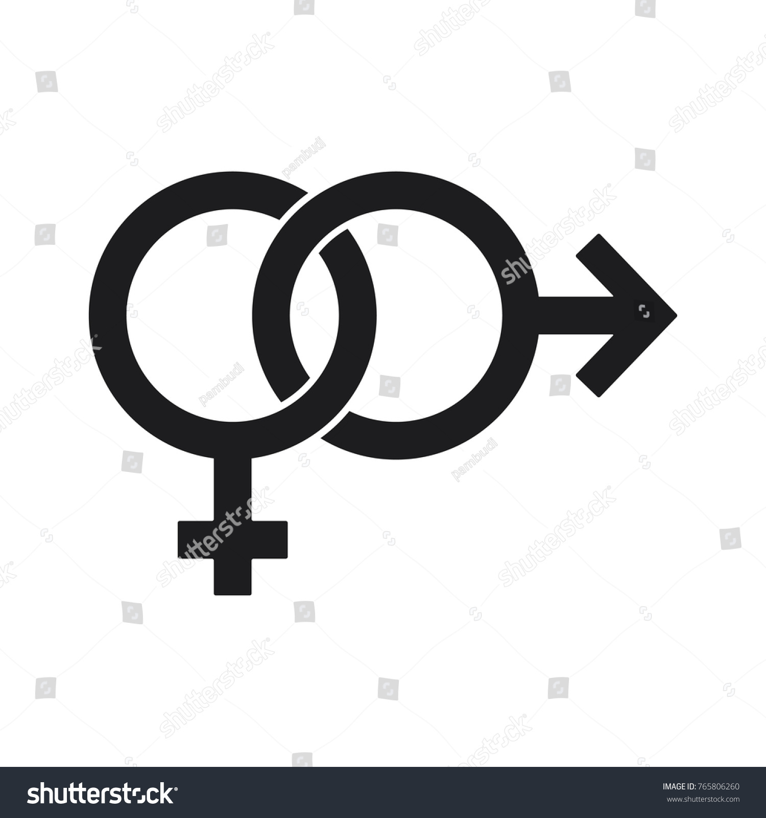Gender Symbol Relationship Male Female Icon Stock Vector Royalty