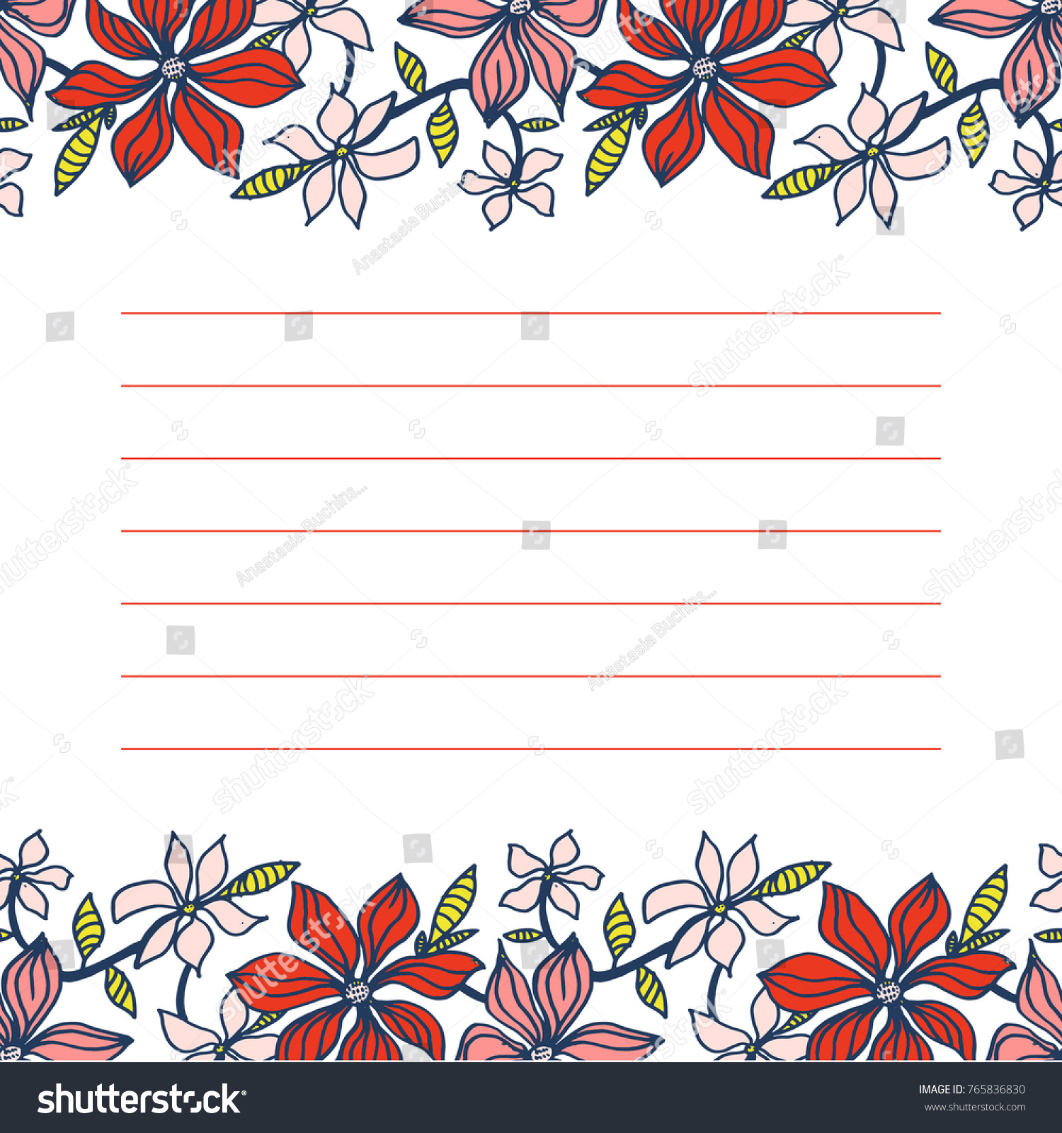 card design cute floral vector card stock vector royalty free