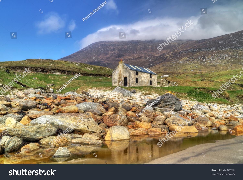 Idyllic Scenery Of Keem Beach On Achill Island, Co. Mayo ...