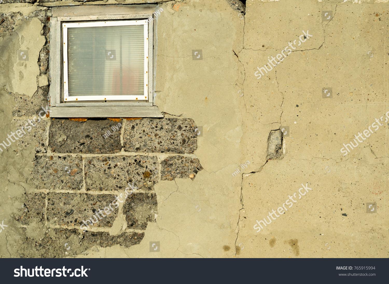 Old Concrete Wall Blocks Window Stock Photo (Royalty Free) 765915994 ...