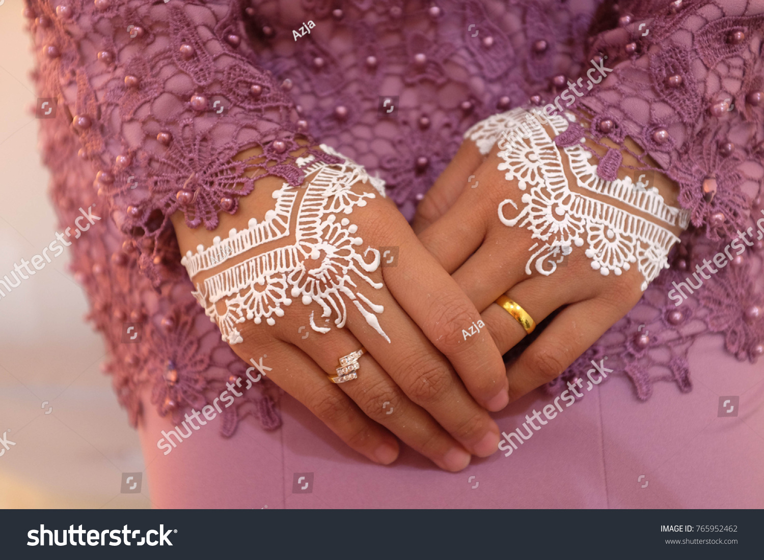 Malay Wedding Close Ring On Hand Stock Photo Edit Now 765952462
