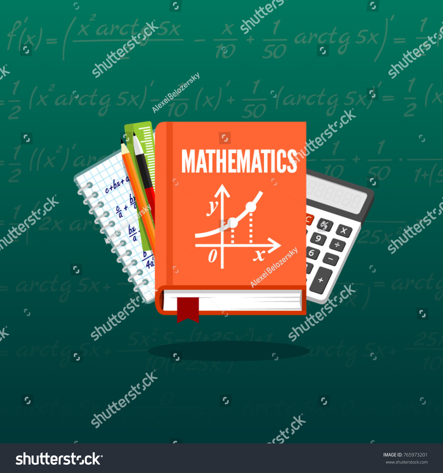Math Science Banner Illustration Concepts For School Lesson Items Education And Knowledge Ideas