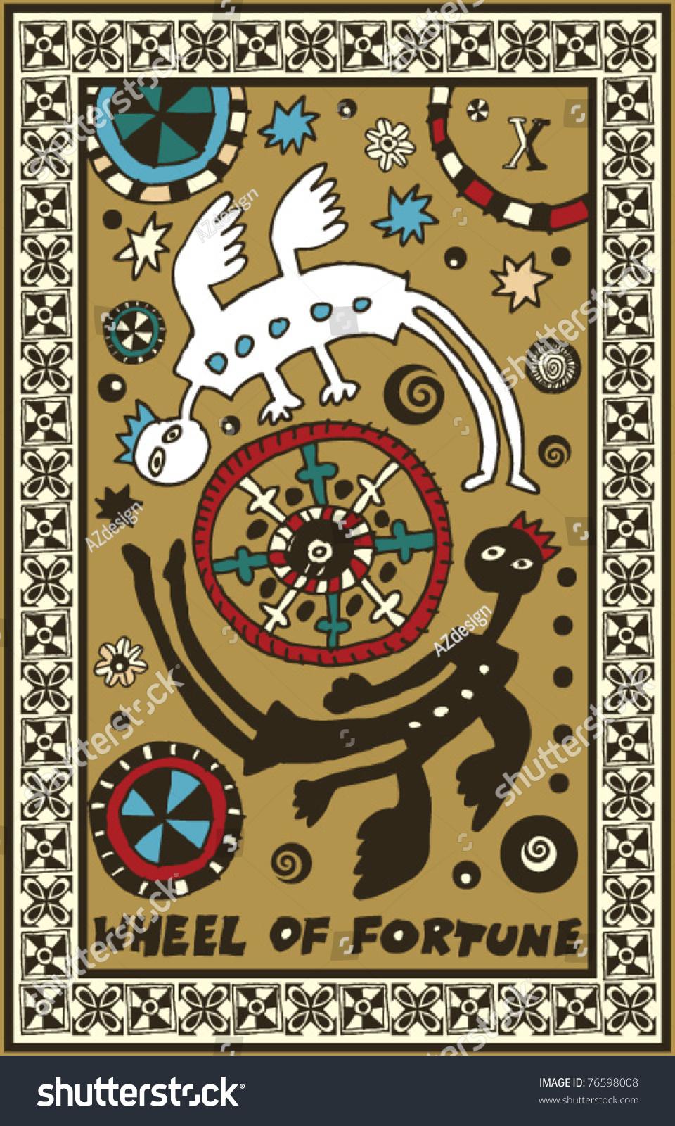 Thoth Fortune Tarot Card Tutorial: Hand Drawn Tarot Deck, Major Arcana, The Wheel Of Fortune