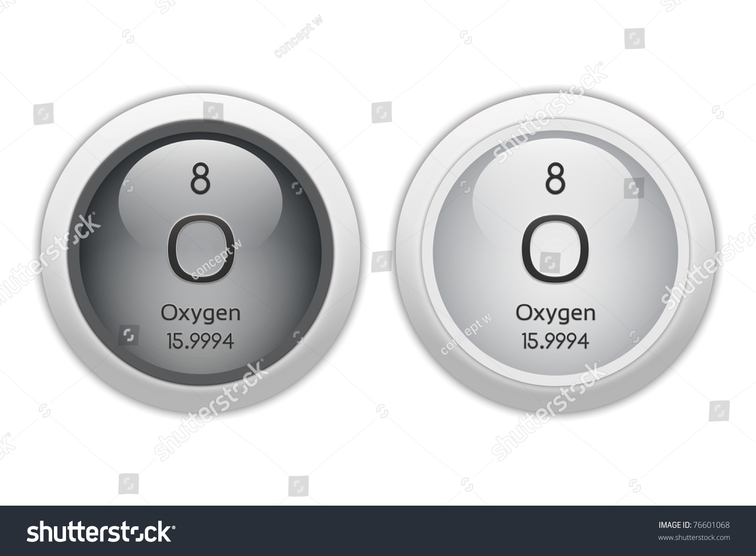 Oxygen web buttons chemical element atomic stock illustration oxygen web buttons chemical element with atomic number 8 it is represented by buycottarizona