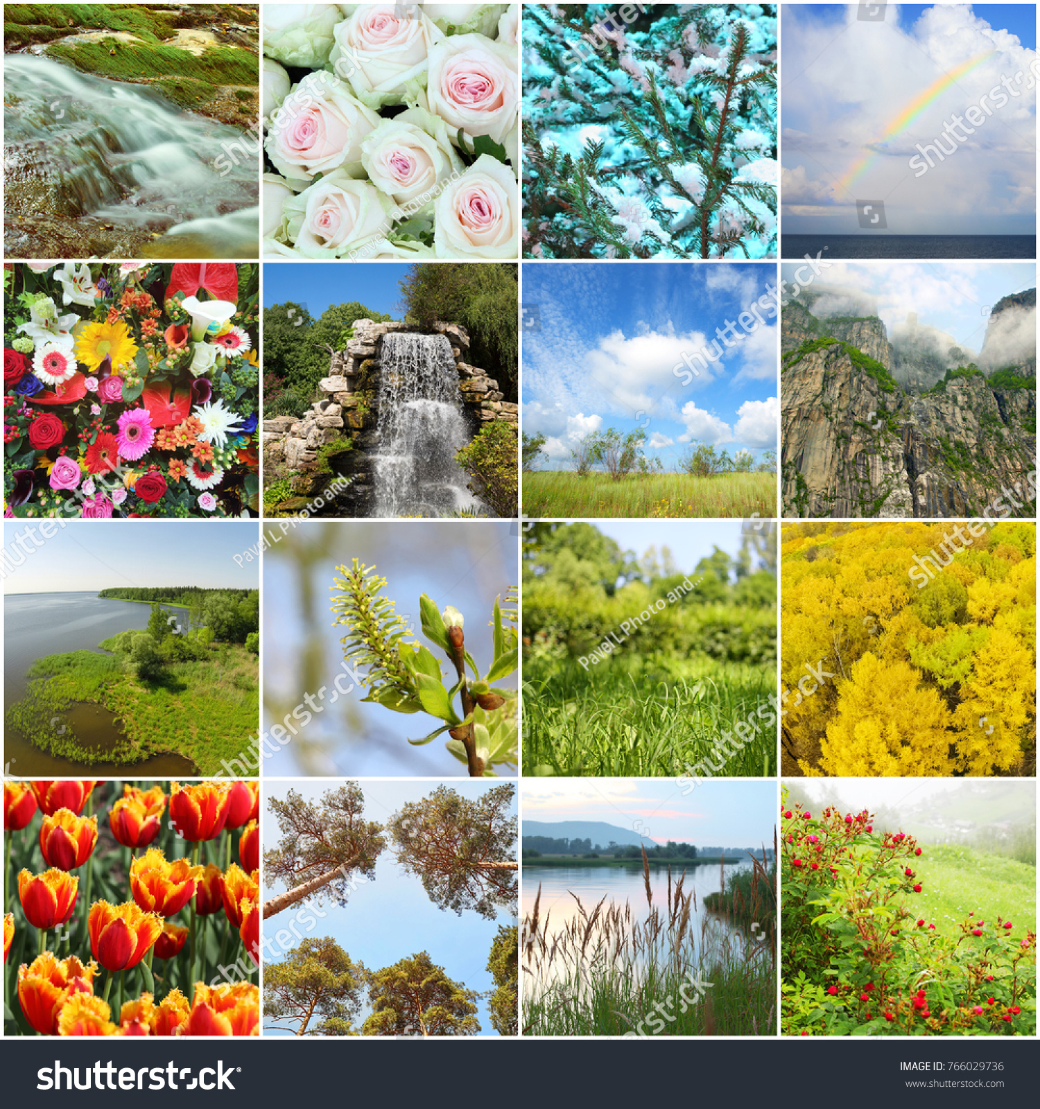 Collage beautiful flowers landscapes buds waterfalls stock photo collage with beautiful flowers landscapes buds waterfalls branches izmirmasajfo