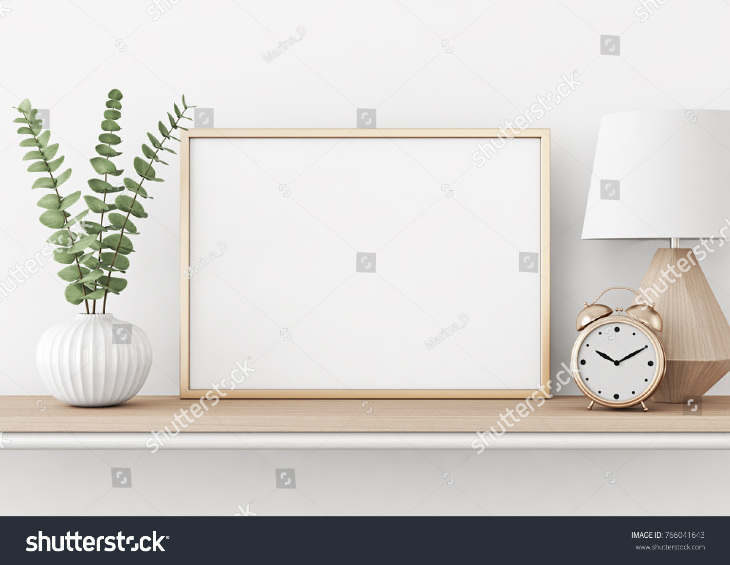 Royalty Free Stock Illustration Of Home Interior Poster Mock