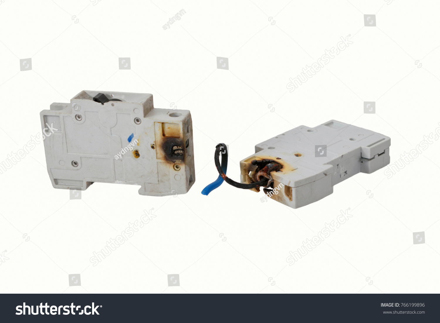 burned electrical circuit breaker fuse box stock photo edit now rh shutterstock com Bit Breaker Box Old Breaker Box