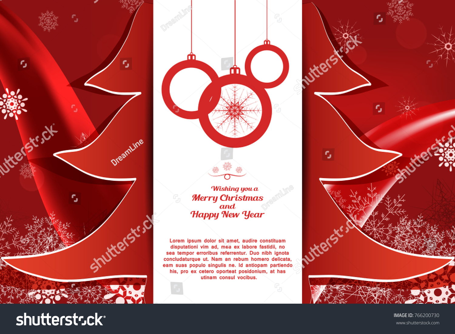 Wish You A Merry Christmas And A Happy New Year Flyer Mersn