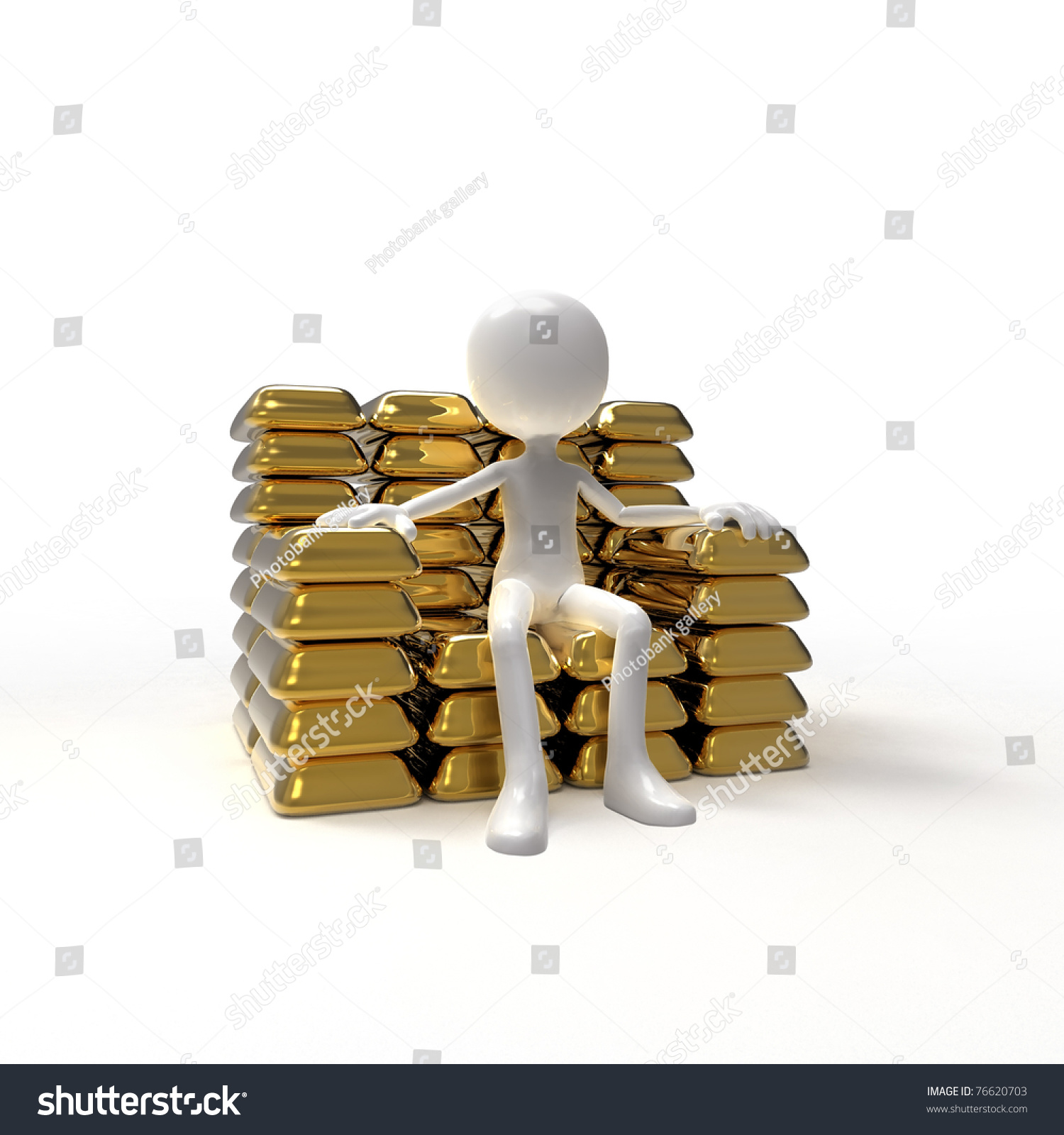 Man Sitting Golden Chair Stock Illustration Shutterstock