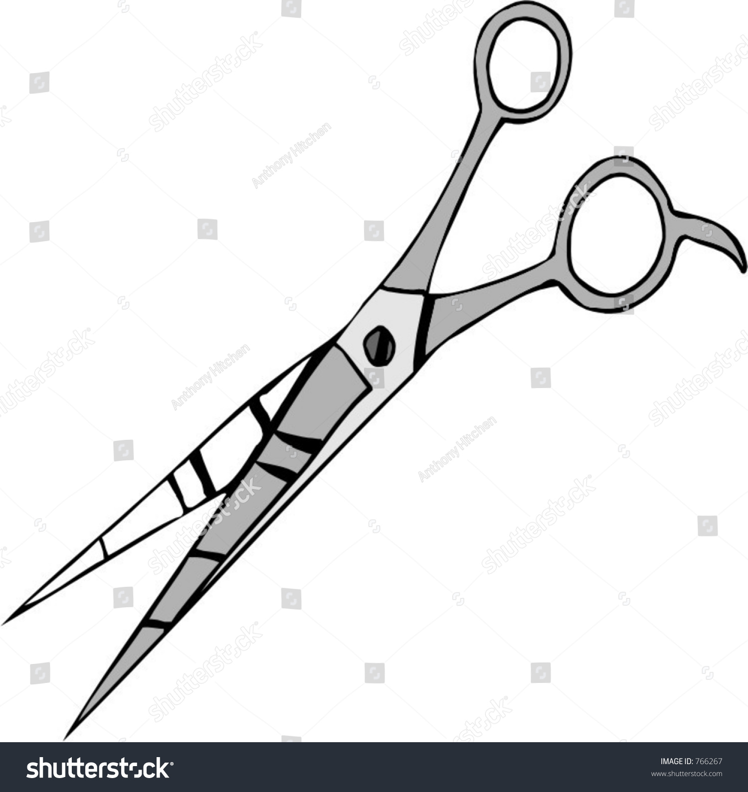 Hair Scissors Stock Vector Illustration 766267 : Shutterstock