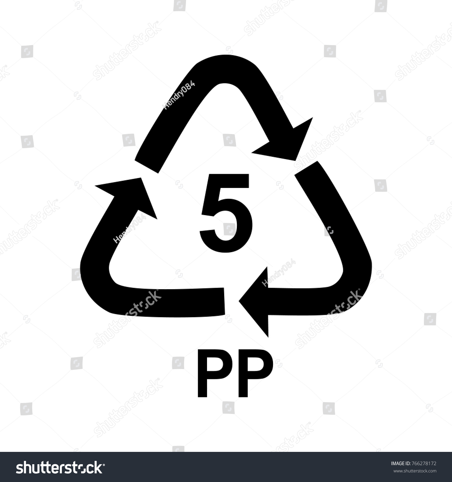 Plastic Recycle Symbol Pp 5 Icon Stock Vector Royalty Free
