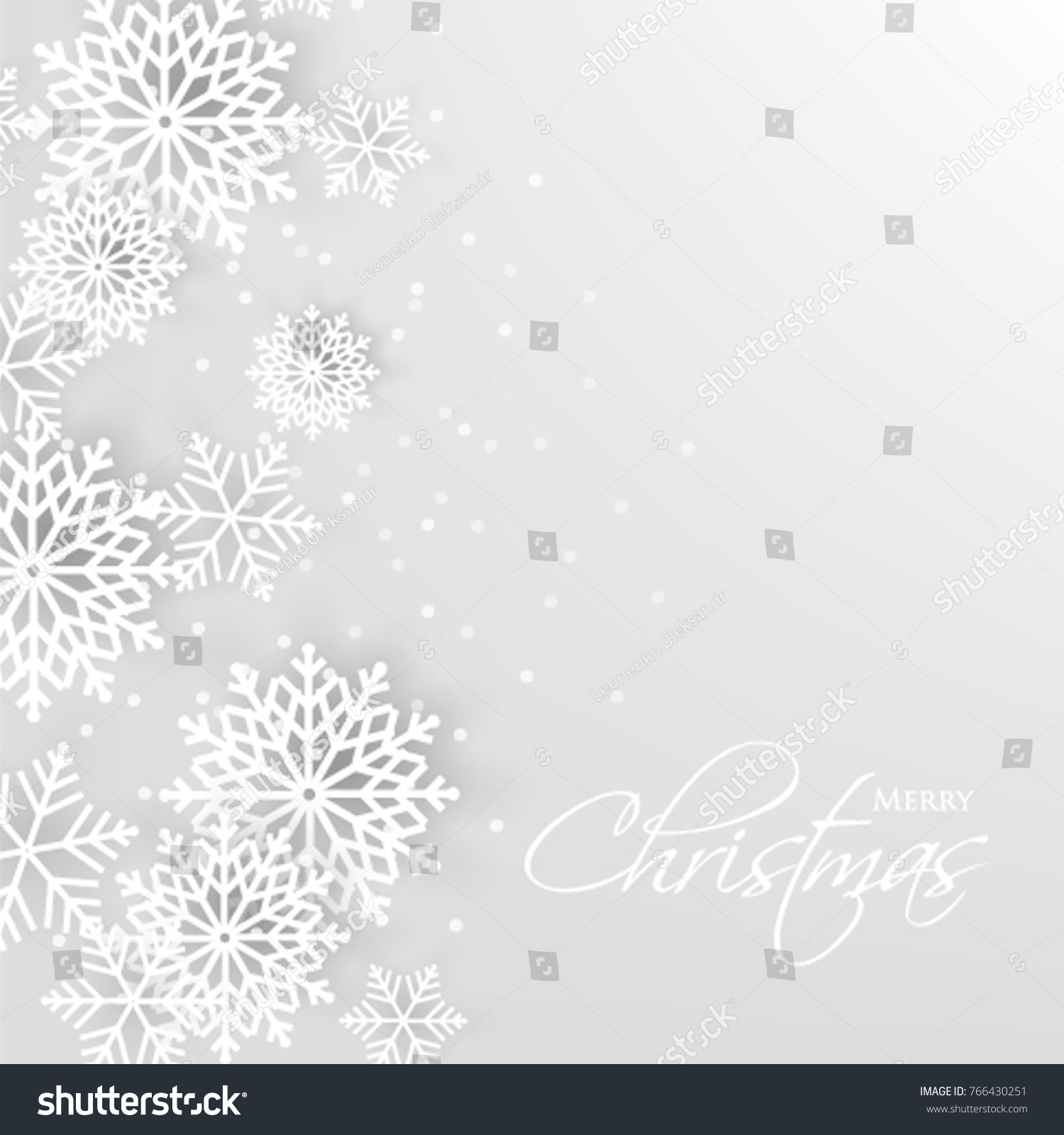 Merry Christmas Party Invitation Template Snowflake Stock Vector - Snowflake party invitation template