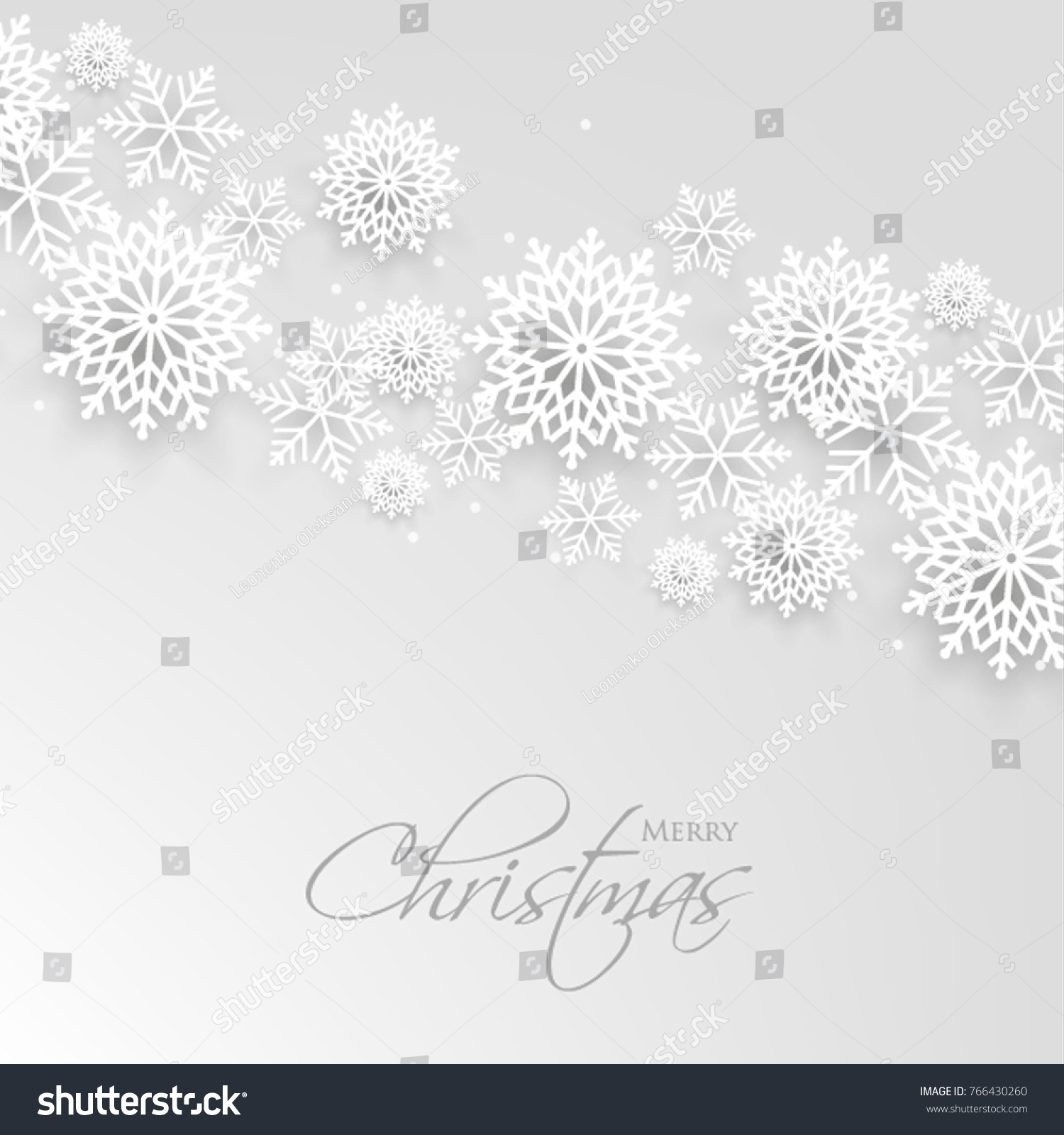 Merry Christmas Party Invitation Template Snowflake Stock Vector ...