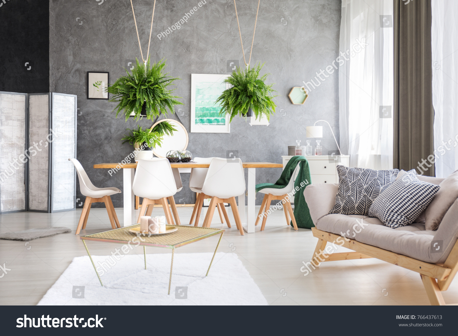 Green Painting Modern Eco Friendly Apartment Stock Photo (Edit Now ...