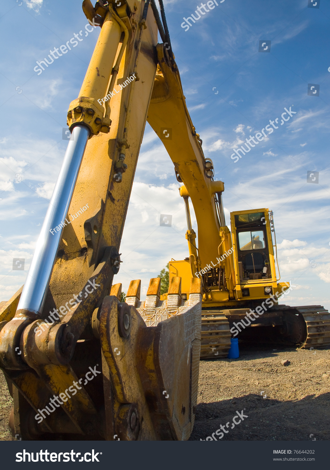 Heavy Duty Construction : Heavy duty construction equipment parked worksite stock
