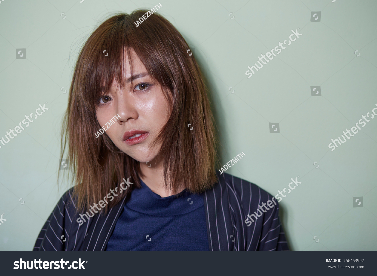 Portrait Short Hair Asian Girl On Stock Photo Edit Now 766463992