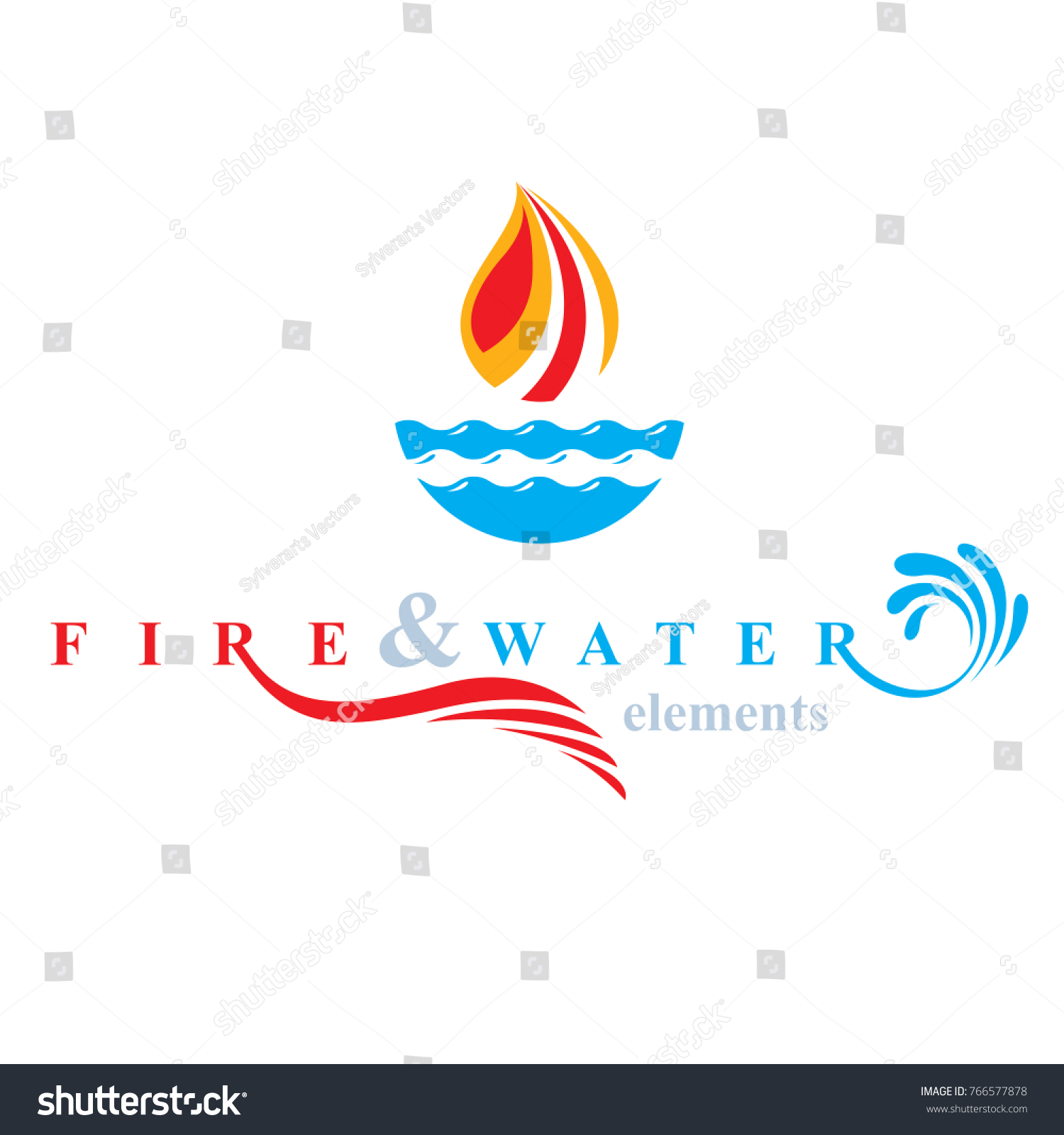 Nature elements balance conceptual emblem use stock vector nature elements balance conceptual emblem for use as marketing design symbol fire and water harmony biocorpaavc Choice Image