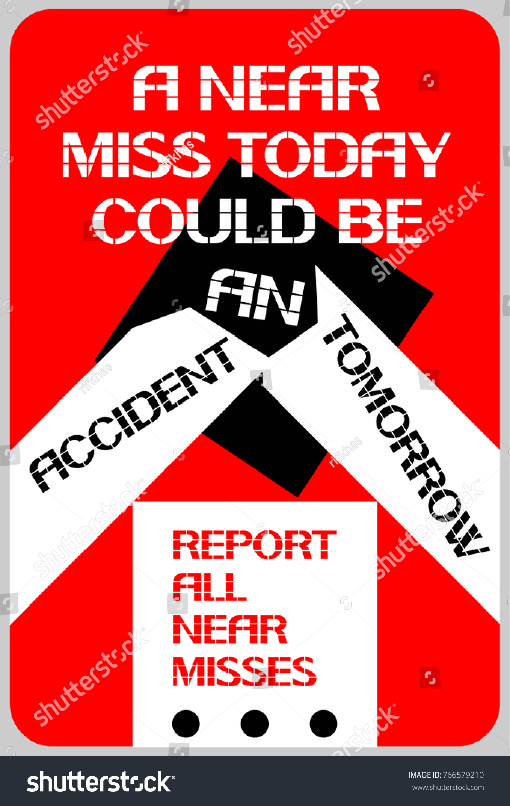 Near Miss Today Could Be Accident Stock Vector Royalty Free