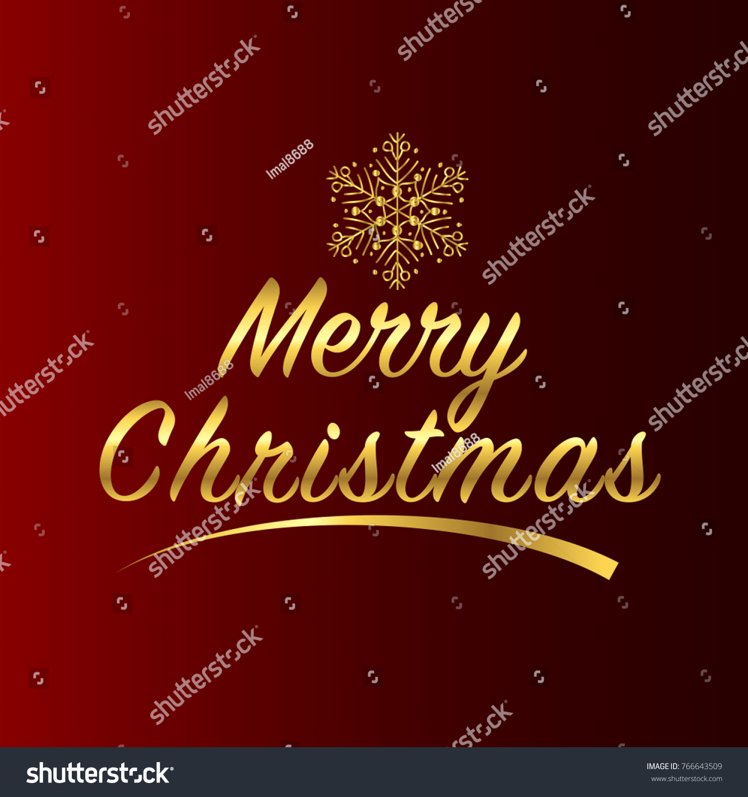 Merry christmas greetings card red gold stock vector 766643509 merry christmas greetings card red and gold kristyandbryce Image collections